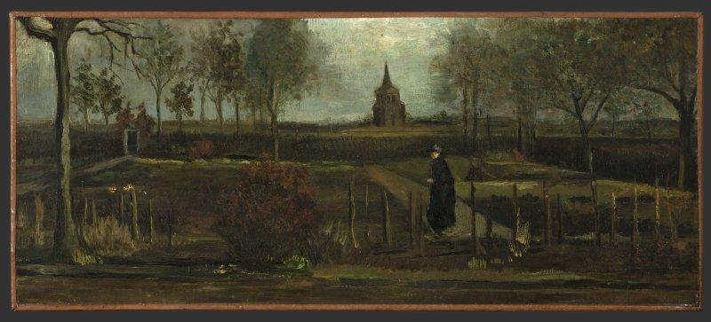 Spring Garden by Vincent van Gogh was stolen from the Singer Laren museum on March 30, 2020. File Photo by Marten de Leeuw/EPA-EFE/HANDOUT