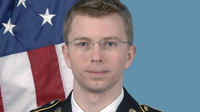 U.S. Army PFC Bradley Manning is seen in this undated U.S. Army file photo. Manning was sentenced to 35 years in a military prison for violations of the Espionage Act for stealing and releasing the documents, including State Department diplomatic cables, to WikiLeaks. UPI/File