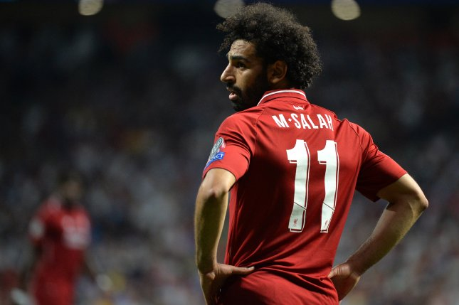 Liverpool star Mohamed Salah has six goals this season for the Reds. Photo by Peter Powell/EPA-EFE