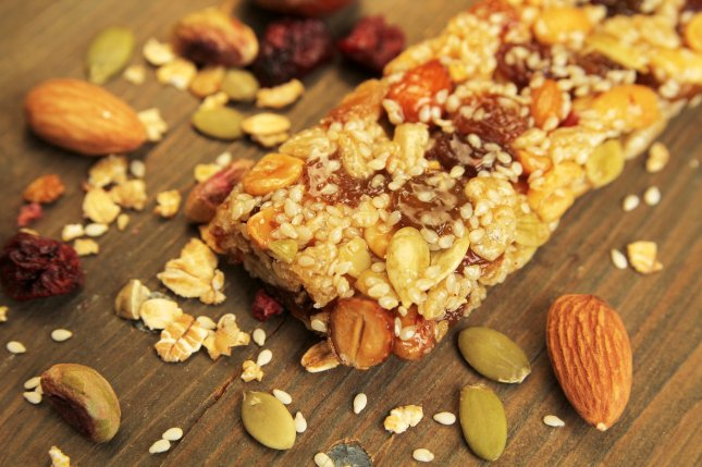 A granola bar containing the edible type of nuts. Photo by Pinkcandy/Shutterstock