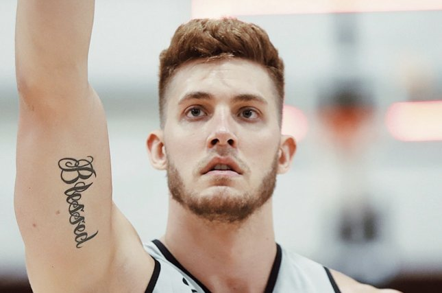 Miami Heat center Meyers Leonard was suspended from team activities for one week Thursday because of anti-Semitic comments he made Monday during a video game stream. Photo courtesy of the Miami Heat