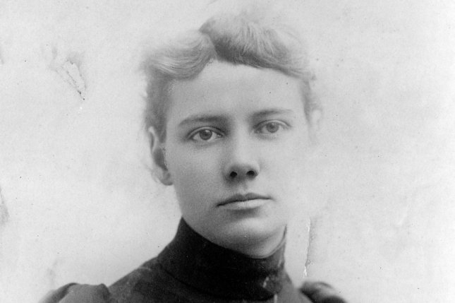 Portrait of journalist Elizabeth Cochrane, better known as Nellie Bly, taken ca. 1890. In 1889 Bly set out on an around the world adventure, emulating that taken by Jules Verne's fictional character Phileas Fogg. File Photo by Library of Congress/UPI