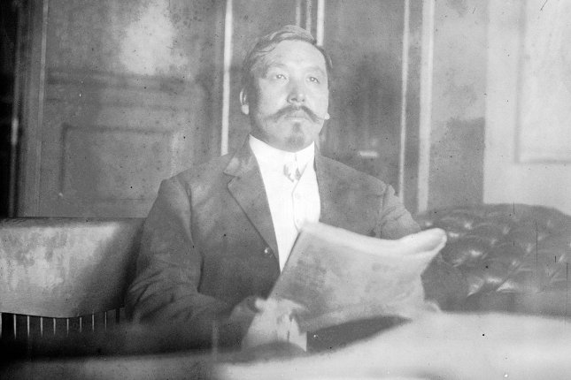 Portrait of Kametaro Iijima, consul general of Japan, visits the United States to lobby against the California Alien Land Law of 1913. Photo by Bain News Service/Library of Congress