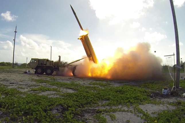 Steps toward the deployment of THAAD, the Terminal High Altitude Area Defense system, are being taken in South Korea. File Photo courtesy of Missile Defense Agency/UPI