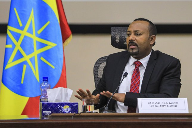 Ethiopian Prime Minister Abiy Ahmed's Prosperity Party won a decisive victory in the country's legislative elections, winning 410 of the547 seats in the House of People's Representatives. File Photo by STR/EPA-EFE