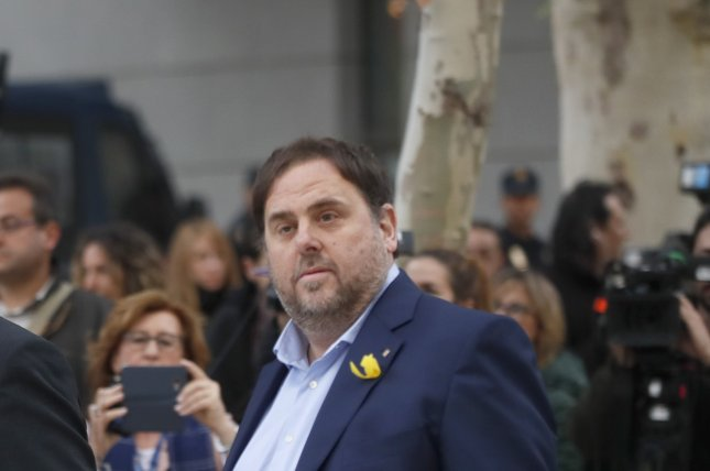 Former Catalan regional Vice President Oriol Junqueras was denied bail by the Spanish Supreme Court. File photo by Fernando Alvarado/EPA