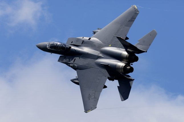 First Lt. Kenneth Allen was flying an F-15C Eagle, similar to the one pictured, during a training mission early Monday when the crash happened.File Photo by Tech. Sgt. Matthew Plew/U.S. Air Force