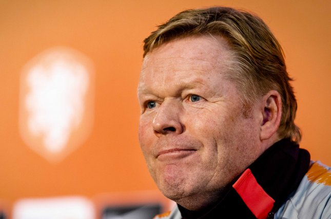 Former Dutch national soccer team manager Ronald Koeman played six seasons at Barcelona, but will now serve as the La Liga club's manager. Photo by Sem Van Der Wal/EPA-EFE