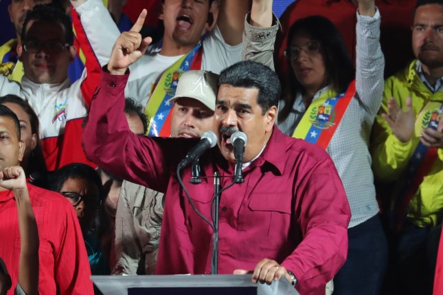 Leaders of the G7 jointly condemn elections that secured another six-year term for Venezuelan President Nicolas Maduro. Sanctions pressures and mismanagement from the OPEC member are behind recent spikes in crude oil prices. File Photo by Miguel Gutierrez/EPA-EFE