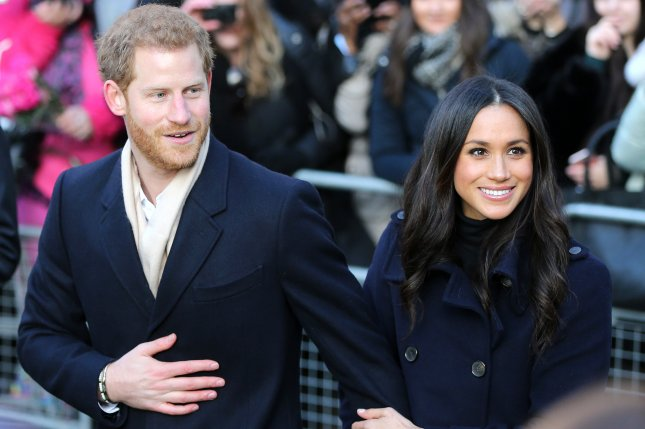 Prince Harry (L) with Meghan Markle. Harry has picked his brother Prince William to be his best man at his upcoming wedding to Markle. File Photo by Nigel Roddis/EPA-EFE