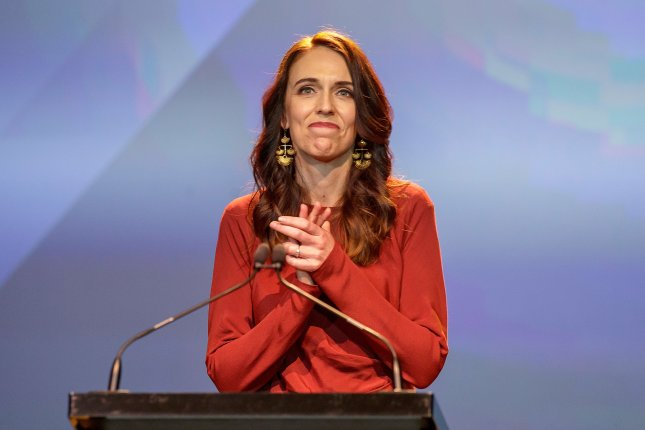 New Zealand Prime Minister Jacinda Ardern tabled the motion Wednesday for the nation to declare a climate change emergency. File Photo by David Rowland/EPA-EFE