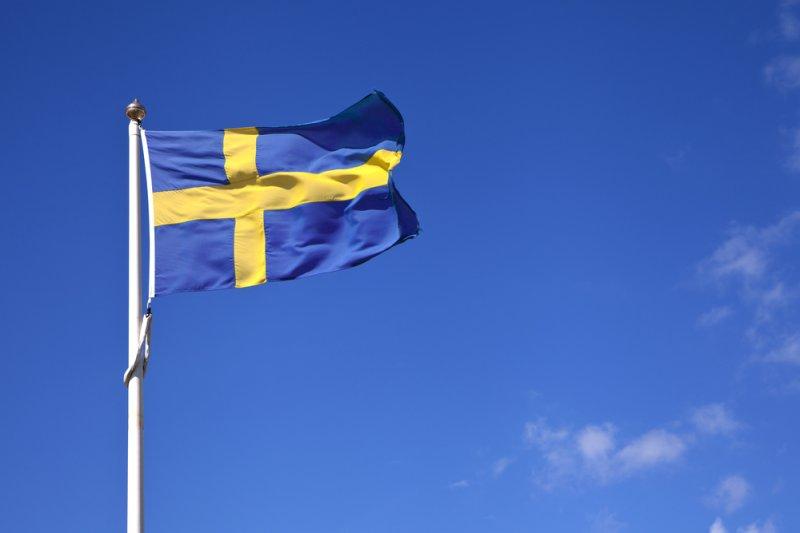 Flag of Sweden. Photo by Daniel Hjalmarson/Shutterstock