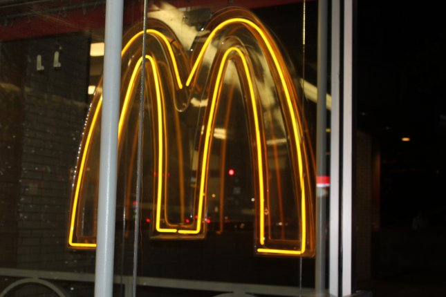 A prank caller to a McDonald's in Oregon told an employee to pull a fire alarm as part of a test of the alarm system. (UPI/Billie Jean Shaw)