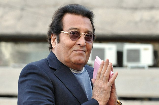 Veteran Bollywood actor and former Bharatiya Janata Party (BJP) member of Parliament, Vinod Khanna, gestures while in New Delhi, India, on March 1, 2013. Khanna passed away on April 27, 2017 at the age of 70 after a battle with cancer. Photo by STR/EPA