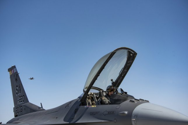 A 20th Fighter Wing pilot prepares for a mission during an exercise earlier this year at Nellis Air Force Base, Nevada earlier this year. File Photo Staff Sgt. Destinee Sweeney/U.S. Air Force