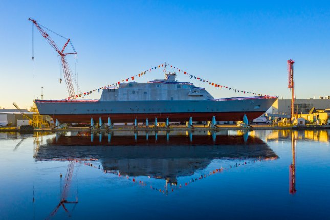 The Navy christened the USS St. Louis in Marinette, Wis., on December 15. Photo by U.S. Navy