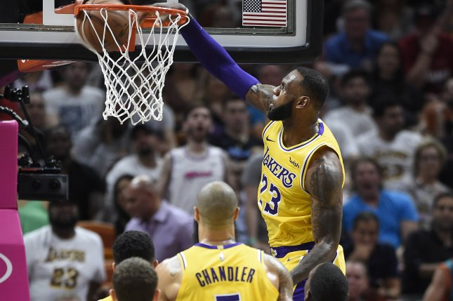 aa641dc89895 Lakers  LeBron James posterizes Pacers  big Myles Turner in lopsided loss