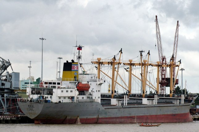 Ships violating North Korea sanctions are falling under greater scrutiny, according to a recent press report. File Photo by Nyein Chan Naing/EPA