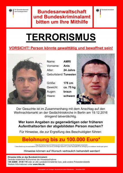 bfcce512165 ... Italy, fatally shot Anis Amri, the 24-year-old Tunisian suspect in the  Berlin Christmas market truck attack. Police said at least 12 people died  on ...