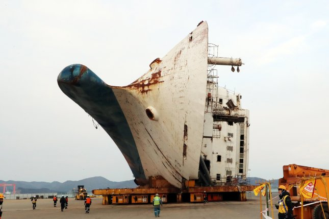 South Korean investigators dropped charges Tuesday against officials of the former Park Geun-hye administration in a case related to the Sewol sinking off the southern coast of the country in April 2014. File Photo by Yonhap/EPA-EFE