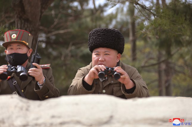 Kim Jong Un has made multiple appearance in the past two weeks at live-fire exercises, according to state media. Photo by KCNA/EPA-EFE