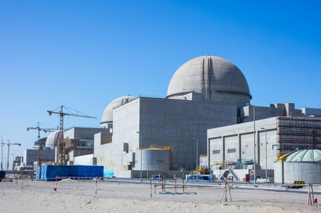 The United Arab Emirates announced Saturday that it has launched operations at Barakah Nuclear Energy Plant in Abu Dhabi, shown here in 2017. Photo courtesy Emirates Nuclear Energy Corp.
