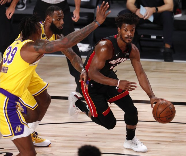 The NBA bubble suggests that viral transmission of COVID-19 by people who have had it is rare, researchers say in a new study. File Photo by Erik S. Lesser/EPA-EFE