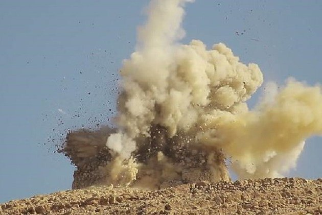 The Islamic State released images of the destruction of two tombs in the ancient Syrian city of Palmyra in June 2015, which the Syrian government confirmed. On Aug. 23, the militants were reported to have destroyed Palmyra's temple of Baal Shamin, or Lord of the Heavens. Photo courtesy Syria's Directorate-General of Antiquities and Museums