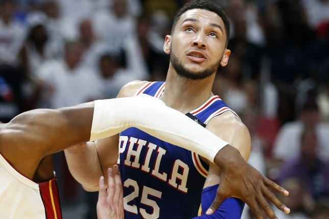 Ben Simmons and the Philadelphia 76ers face the Indiana Pacers on Friday. Photo by Rhona Wise/EPA-EFE/-Shutterstock