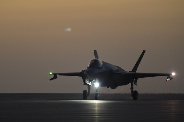 A U.S. Air Force F-35A is seen at Al Dhafra Air Base in the United Arab Emirates on April 24. File Photo by U.S. Air Force/Staff Sgt. Chris Drzazgowski