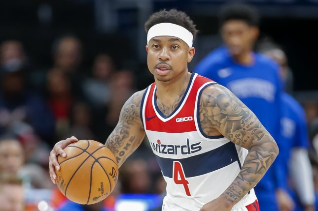 Washington Wizards guard Isaiah Thomas scored 20 points during a loss to the Philadelphia 76ers Saturday in Philadelphia. Photo by Erik S. Lesser/EPA-EFE