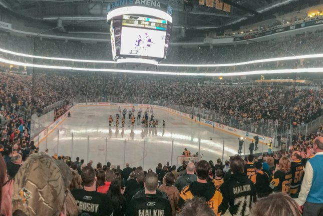The Pittsburgh Penguins on Tuesday allowed fans to attend a game at PPG Paints Arena for the first time since the start of the coronavirus pandemic, but had some issues with some of them not wearing masks correctly. Photo by Andrew NYR/Wikimedia Commons