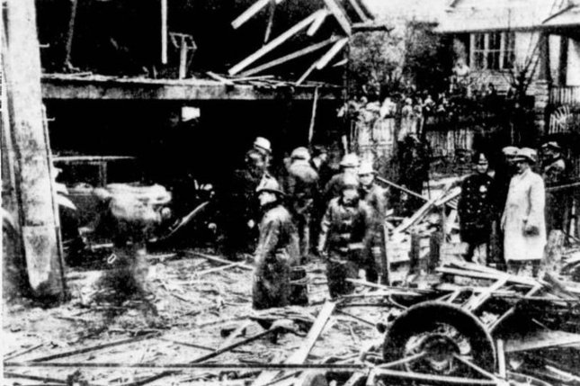 On November 24, 1917, a bomb killed two civilians and nine officers at the Milwaukee Police Department in deadliest event in U.S. police history until 9/11. Photo courtesy Milwaukee Journal