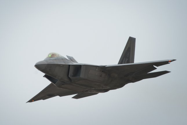 U.S. Air Force F-22 Raptors on Thursday intercepted two Russian military planes over Syria, officials said. File Photo by Senior Airman Tyler Woodward/U.S. Air Force