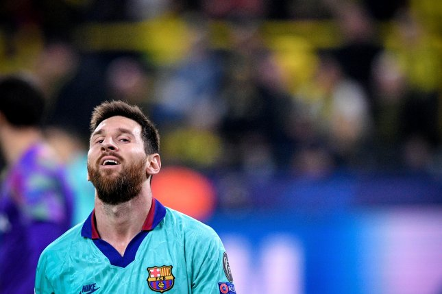 La Liga leaders Barcelona and Lionel Messi will resume their season June 11 as part of the league's plan to return from a suspension due to the coronavirus pandemic. Photo by Sascha Steinbach/EPA-EFE