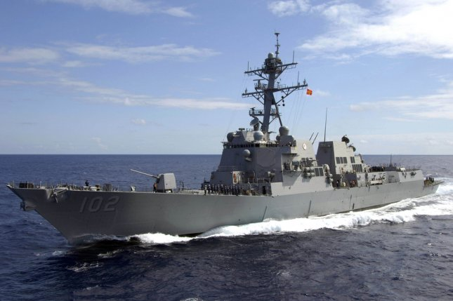 Vigor Marine will work on the guided-missile destroyer USS Sampson, pictured here, under a new Defense Department contract. File photo courtesy the U.S. Navy