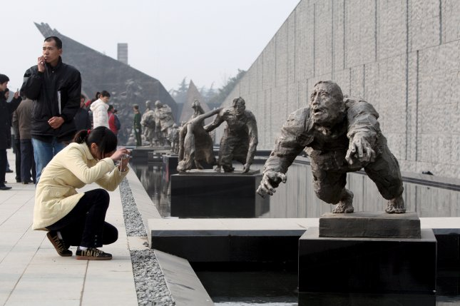 The Nanjing Massacre Memorial Hall in China said former comfort woman Liu Rongfang has died. Japanese forces invaded the city of Nanjing in 1937 and invaded Hunan Province in 1944, when Liu may have been captured, according to Chinese state media. File Photo by Michael Reynolds/EPA