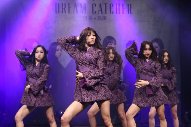 Dreamcatcher released a clip of its music video for BEcause, the title track from its EP Summer Holiday. File Photo by Yonhap News Agency/EPA
