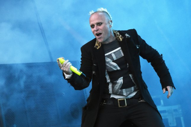 Keith Flint died March 4 at age 49. File Photo by Hugo Marie/EPA-EFE