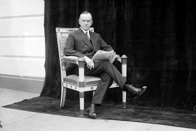 Portrait of Calvin Coolidge taken in Washington, D.C., on May 9, 1924. File Photo by Library of Congress/UPI