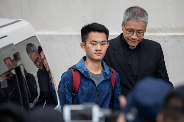 Chan Tong-kai, a murder suspect wanted in Taiwan, leaves the Pik Uk Correctional Institution in Hong Kong, China, Wednesday. Photo by Jerome Favre/EPA-EFE
