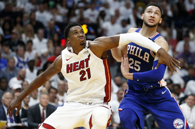 brand new 855aa 243a1 Watch: Heat's Johnson, Sixers' Simmons erupt into playoff ...