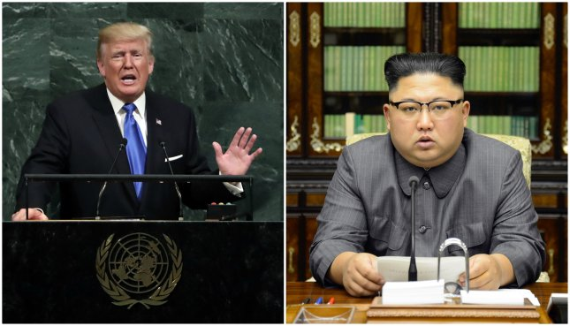 U.S. President Donald Trump may meet with North Korean leader Kim Jong Un in the DMZ village of Panmunjom during their planned summit. Photos by Jason Szenes/UPI & KCNA/EPA-EFE
