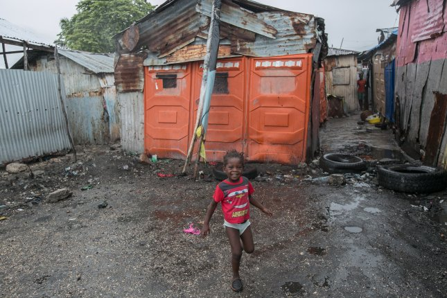 Cite Soleil, a slum in Port-au-Prince that houses thousands of Haitians, hours before Hurricane Matthew is expected to hit, in Haiti, 03 October 2016. Cite Soleil is right by the ocean and has multiple canals that are already filled with garbage. EPA/Bahare Khodabande
