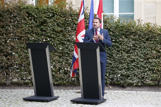Luxembourg Prime Minister Xavier Bettel said British Prime Minister Boris Johnson has yet to present a written Brexit proposal since taking office. Photo by Julien Warnand/EPA-EFE