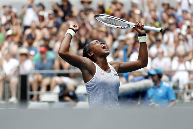 Cori Coco Gauff has now advanced to the third round in her first three career Grand Slam tournaments. File Photo by Roman Pilipey/EPA-EFE