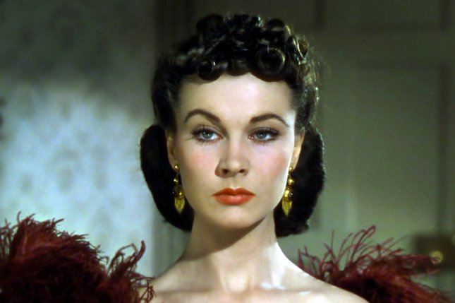 The film starred actress Vivien Leigh, seen here in a restored photo from the set of Gone with the Wind. Photo courtesy of Wikimedia Commons