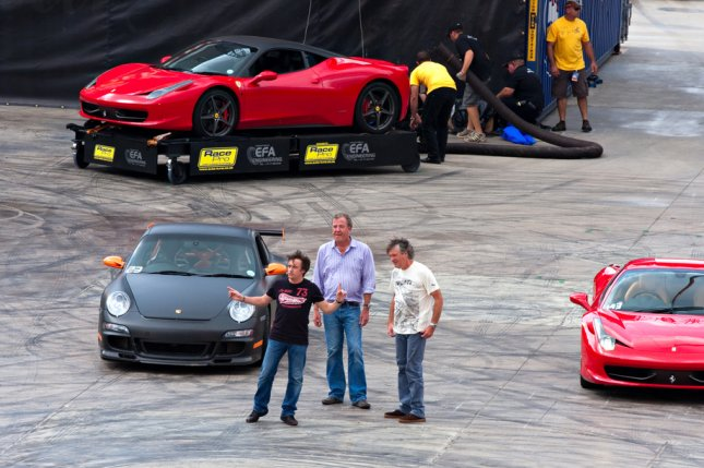 Jeremy Clarkson, Richard Hammond and James May on March 20, 2011 in Johannesburg, South Africa. File Photo by Daleen Loest/Shutterstock.com