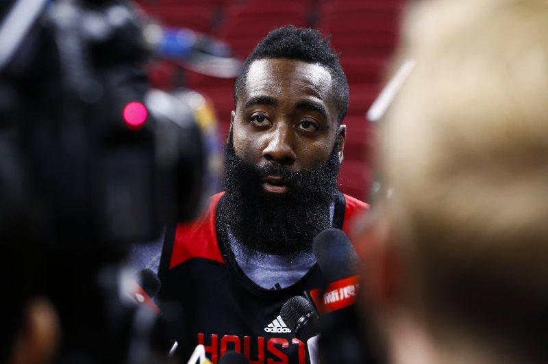 James Harden of the Houston Rockets. Photo by Rolex Dela Pena/EPA