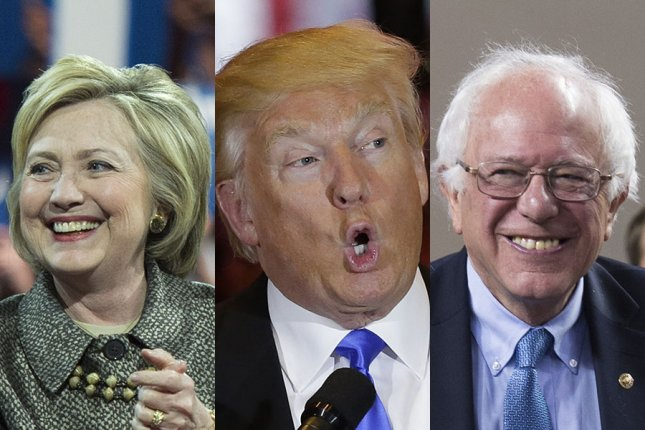 Presidential candidates Hillary Clinton, Donald Trump and Bernie Sanders disagree widely about climate change, energy and environmental issues. Composite image of UPI photos